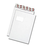 Versandtaschen C4 Enduro mit Fenster haftklebend 100g weiß 100 Stück