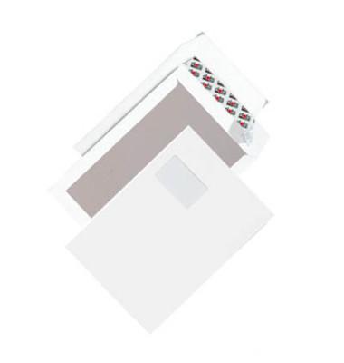 Versandtaschen C4 mit Fenster und Papprückwand haftklebend 120g weiß 50 Stück