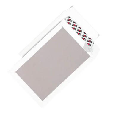 Versandtaschen B4 ohne Fenster mit Papprückwand haftklebend 120g weiß 50 Stück