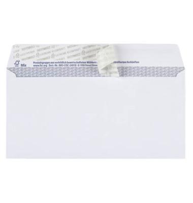 Briefumschläge TopSTAR Din Lang ohne Fenster haftklebend 100g hochweiß 25 Stück