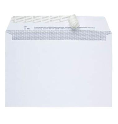 Briefumschläge C6 TopSTAR ohne Fenster haftklebend 100g hochweiß 25 Stück
