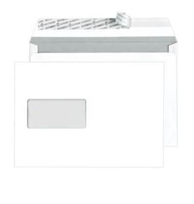 Versandtaschen TopStar C5 ohne Fenster haftklebend 100g hochweiß 25 Stück Öffnung an der langen Seite