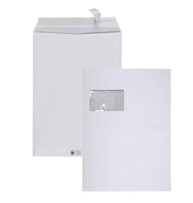 Versandtaschen TopStar C4 mit Fenster haftklebend 120g hochweiß 10 Stück Laserline Recycling