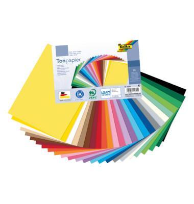 Tonpapier 130g schokobr 50x70 cm