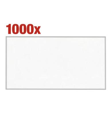 Kuvertierhüllen KuvertierStar Din Lang+ ohne Fenster nassklebend 75g weiß 1000 Stück