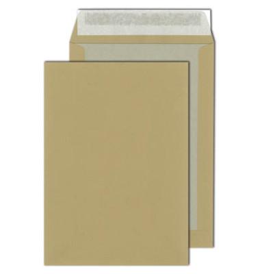 Versandtaschen C4 ohne Fenster mit Papprückwand haftklebend 110g braun 100 Stück