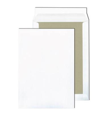 Versandtaschen C4 ohne Fenster mit Papprückwand haftklebend 120g weiß 100 Stück