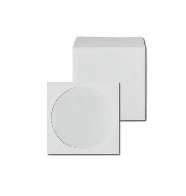 CD Hüllen Papier  weiß 125 x 125 mm 25 Stück