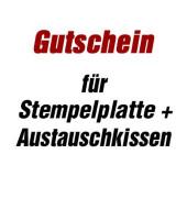 Gutschein für Stempelsatz + Austauschkissen für Stempel printy 5205 mit Logo