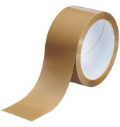 Packband 1269551, 25mm x 66m, PP, braun