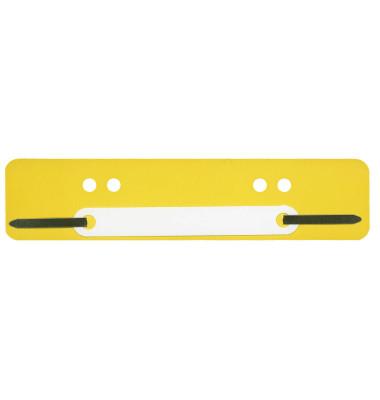 Heftstreifen kurz PP gelb 34x150mm 100 Stück