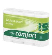 Küchenrollen 167050 Comfort 2-lagig weiß 4 Rollen à 64 Blatt