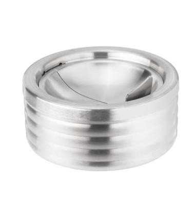 Klapp-Aschenbecher silber Durchmesser 11,8 cm