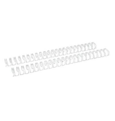 Drahtbinderücken Ring Wire 321900023 weiß 2:1 23 Ringe auf A4 160 Blatt 19mm 50 Stück