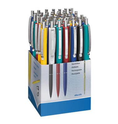 K15 farbsortiert Schreibfarbe blau Kugelschreiber 0,6mm 50 Stück