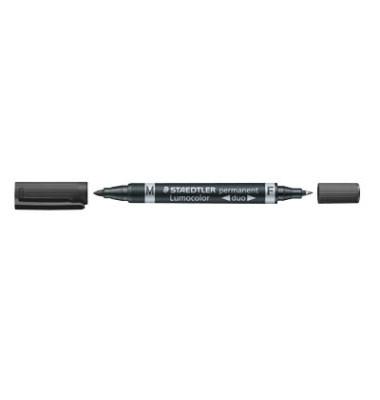 Permanentmarker 348 duo schwarz 0,6mm und 1,5mm Rundspitze 10 Stück