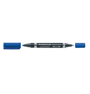 Permanentmarker 348 duo blau 0,6mm und 1,5mm Rundspitze 10 Stück