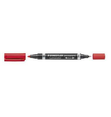 Permanentmarker 348 duo rot 0,6mm und 1,5mm Rundspitze 10 Stück