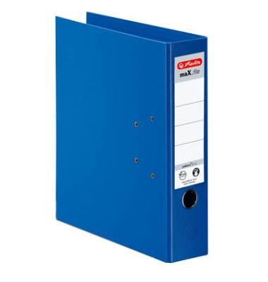maX.file protect+ 10834331 blau Ordner A4 80mm breit