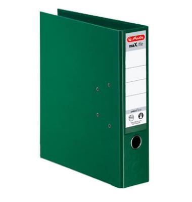 maX.file protect+ 10834349 grün Ordner A4 80mm breit