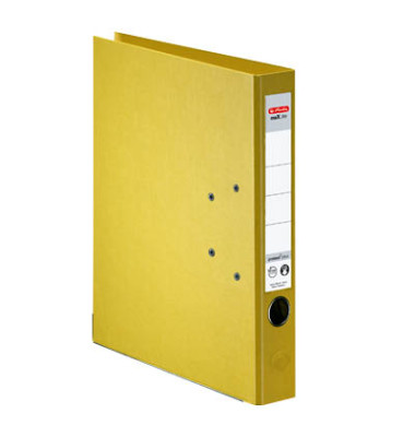 maX.file protect+ 10834778 gelb Ordner A4 50mm schmal