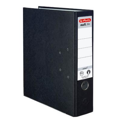 maX.file protect 5480801 schwarz Ordner A4 80mm breit