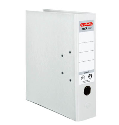 maX.file protect 5480710 weiß Ordner A4 80mm breit