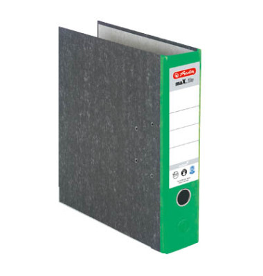 maX.file nature 5171509 Wolkenmarmor grün Ordner A4 80mm breit