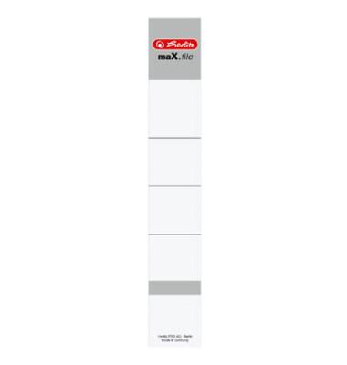 Rückenschild maX.file 30 x 190 mm weiß zum einstecken 10 Stück