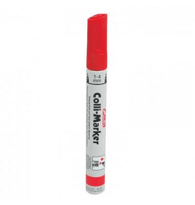 Permanentmarker Colli-Marker 10er Etui rot 1-4mm Rundspitze