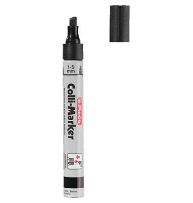 Permanentmarker Colli-Marker 10er Etui schwarz 1-5mm Keilspitze