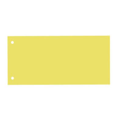 Trennstreifen gelb 130g gelocht 230x110mm 100 Blatt