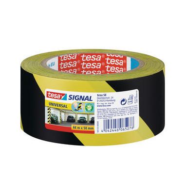 Signal-Packband Universal 58134 50mm x 66m gelb/schwarz PP