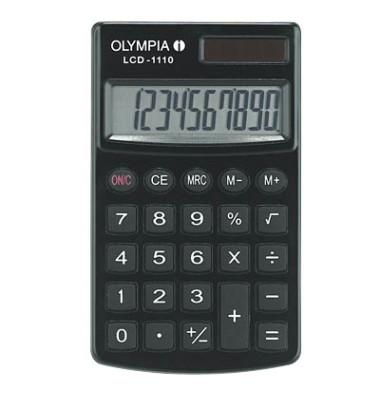 Taschenrechner LCD-1110 10-stellig schwarz