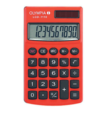 Taschenrechner LCD-1110 10-stellig rot