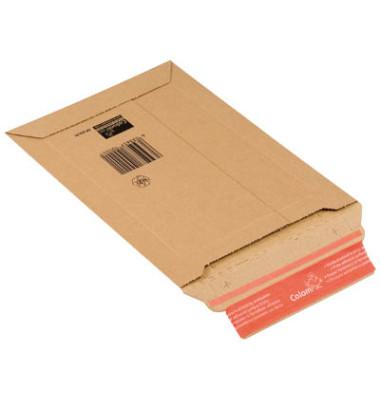 Versandtaschen Wellpappe CD/DVD haftklebend braun Innenmaß 150x250mm 20 Stück