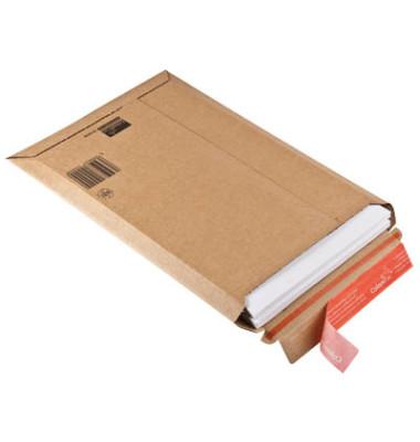 Versandtaschen Wellpappe A4+ haftklebend braun Innenmaß 235x340mm 20 Stück