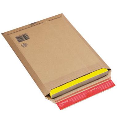Versandtaschen Wellpappe haftklebend braun Innenmaß 250x360mm 20 Stück