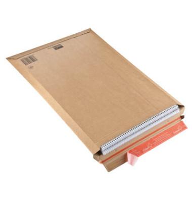 Versandtasche 340x500 mm A3 ohne Fenster braun 20 Stück