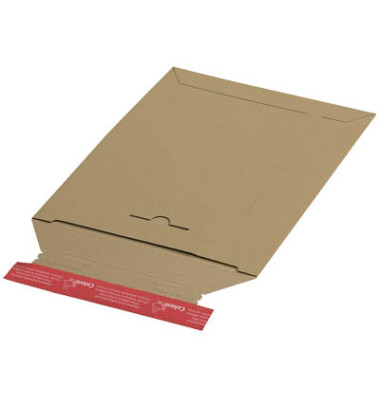 Versandtaschen Vollpappe A5 haftklebend braun Innenmaß 170x245mm 20 Stück