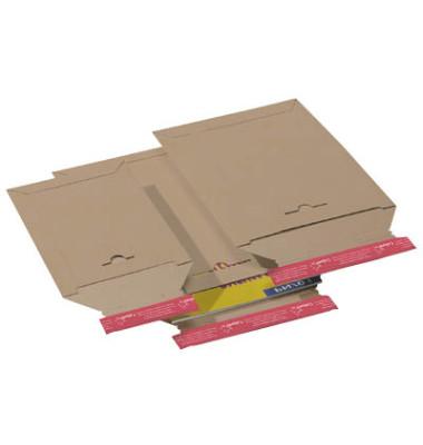 Versandtasche 285x370 mm B4 ohne Fenster Vollpappe braun 20 Stück