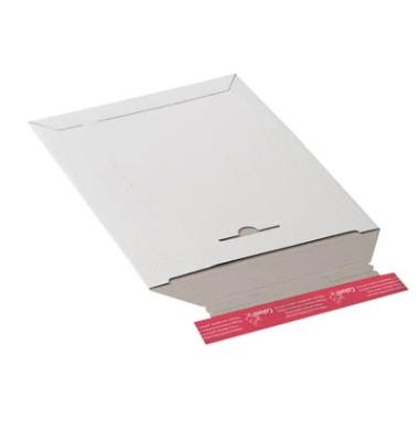 Versandtasche 170x245 mm A5 ohne Fenster Vollpappe weiß 20 Stück
