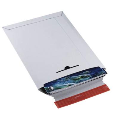 Versandtasche 235x310 mm A4 ohne Fenster Vollpappe weiß 20 Stück