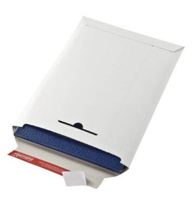 Versandtasche 285x370 mm B4 ohne Fenster Vollpappe weiß 20 Stück