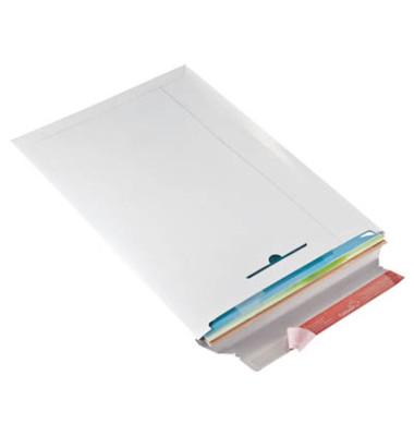 Versandtasche 310 x 445 mm A3 ohne Fenster Vollpappe weiß 20 Stück