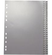 Kunststoffregister 1117 1-26 / 27-52 A4 0,12mm graue Taben 2x 26-teilig