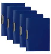 Klemmmappe Duraswing A4 dunkelblau für 30 Blatt 5 Stück