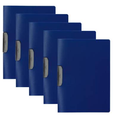 Klemmhefter DURASWING 2295-07, A4, für ca. 30 Blatt, Kunststoff, blau