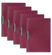 Klemmmappe Duraswing A4 dunkelrot für 30 Blatt 5 Stück