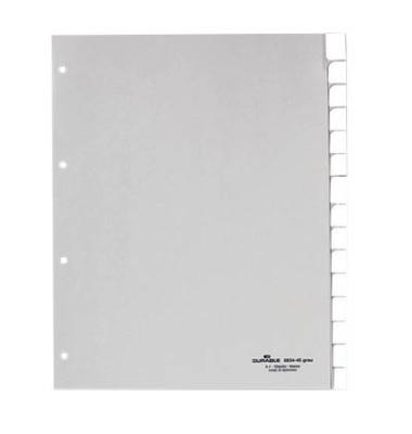 Kunststoffregister 6834-10 blanko A4+ 0,12mm weiße Fenstertaben zum wechseln 15-teilig